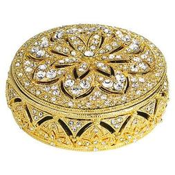 Windsor Round Box - Gold - Frontgate - Christmas Decorations