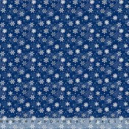 """Winter Blue Snowflakes- Home Decor Fabric Polyester 62"""" W So"""