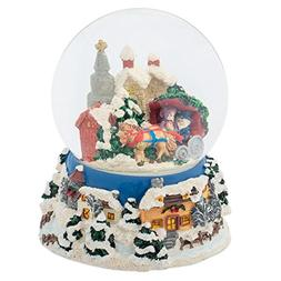 Winter Sleigh Ride 100MM Music Water Globe Plays Tune Have Y
