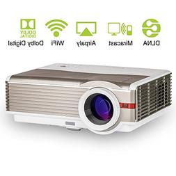 LCD HD WXGA Wireless Android Projector Video Wifi Home Theat