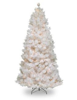 National Tree 7.5 Foot Wispy Willow Grande White Slim Tree w