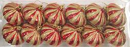 Queens of Christmas WL-ONION-G-12PK-RE 12 Pack Onion Ornamen