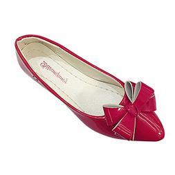 Women Ballet Flats, Mosunx Bow Pointed Toe Ladies Flat Shoes