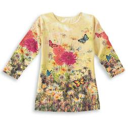 Women's Daisy Garden Scoop Neck Butterfly Top, by Collection