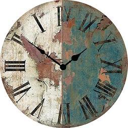 Wood crafts antique American clock wrought iron clock retro