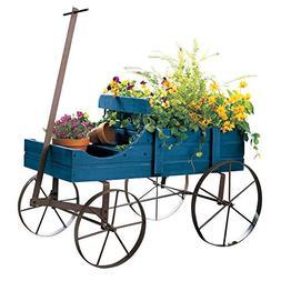 Wood Wagon Wheel Planter Flower Garden Pot Cart Rustic Yard