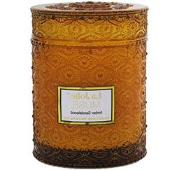 LA JOLIE MUSE Wood Wick 21Oz Sandalwood Scented Candles Soy