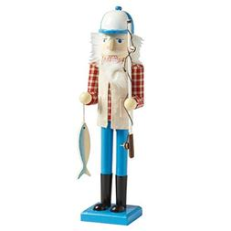 "Nantucket Home Wooden 15"" Fisherman Christmas Nutcracker D"