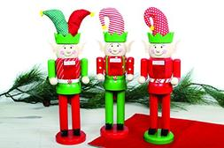 Wooden Christmas Elf Nutcracker, Assorted Styles