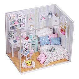Rylai Wooden Handmade Dollhouse Miniature DIY Kit For Girls