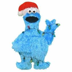 Product Works 32-Inch Pre-Lit Sesame Street Cookie Monster i