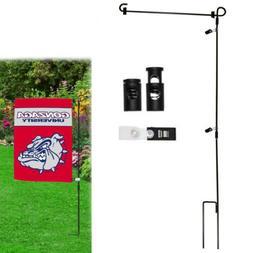 Wrought Iron Yard Garden Flag Stand Pole 36 Black Post Outdo