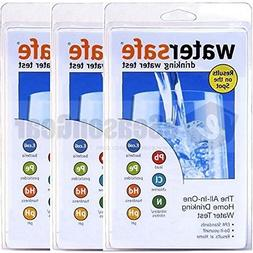 3x WaterSafe WS-425B City Home Tap Drinking Water Test Kit,