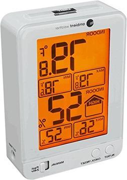 Ambient Weather WS-2063-W Indoor Temperature & Humidity Moni