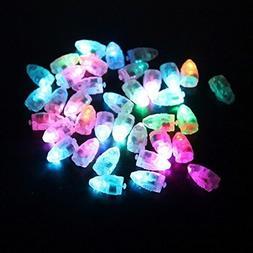 VIVOSKY 100pcs/lot 100 X Multi-Colored Led Flash Ball Lamp B