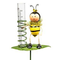 Yard Decor Garden Outdoor Bumblebee Rain Gauge Decoration w/