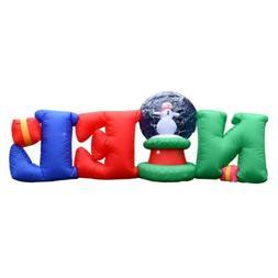 ALEKO Yard Decor Inflatable LED Noel Greeting with Christmas