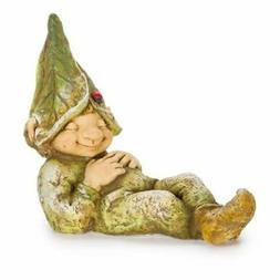 Yard Decor: Sleeping Garden Gnome or Elf, Laying Down 15 inc