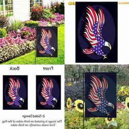 "Yard Garden Flag 28 X 40"" Patriotic Eagle Decor 4Th Of July"
