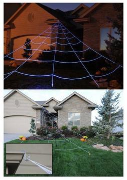 Yard Halloween Giant Spider Decorations Outdoor Spider Web S