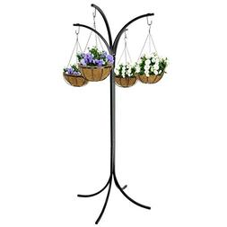 LEMY Yard Tree Plant Stand 4-Arm Tree Outdoor Decor with 4 H