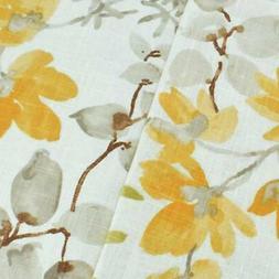 Yellow/Multi Braemore Floral Print Woven Decor Fabric, Fabri