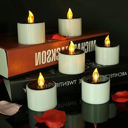 Micandle 6 Pack Outdoor Solar Candles/Long Lasting Using,Fla
