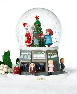 Macy's Yes Virginia 2011 Glass & Resin Christmas Snow Globe