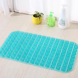 YJ Bear Rectangle Non-slip Bath Mat PVC Shower Mat Mildew Re