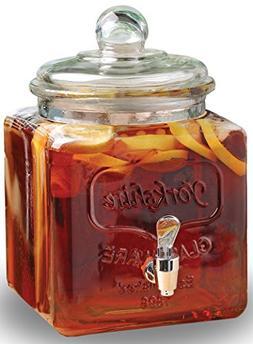 Circleware 67112 Yorkshire Mason Jar Square Beverage Dispens